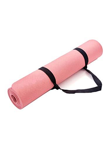 Colchoneta De Yoga, Protección Del Medio Ambiente TPE, Colchoneta De Ejercicio Físico Antideslizante Para Principiantes Masculinos Y Femeninos, Equipada Con Colchoneta De Yoga F(Size:183×80cm,Color:A)