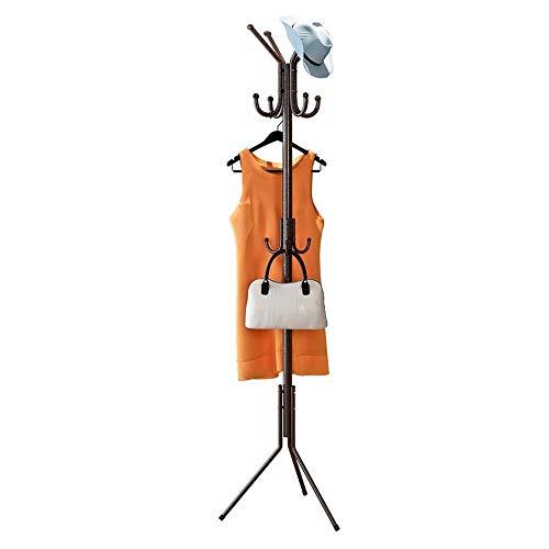 Perchero Perchero Perchero Abrigo Árbol Sombrero Perchero Ganchos Múltiples para chaqueta Paraguas Soporte de árbol con base de metal para bolsos Accesorios de ropa (Color: Rosa, Tamaño: 48 Times; 17