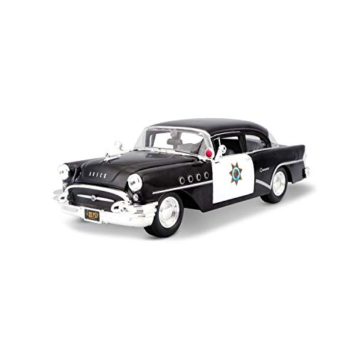Maisto 531295 Buick Century ´55 Polizei Modellauto, Schwarz