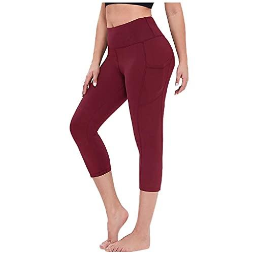 QTJY Pantalones de Yoga elásticos para Levantar la Cadera de Las señoras, Gimnasio para Correr Ejercicio Ejercicio de Secado rápido Leggings de Celulitis CL