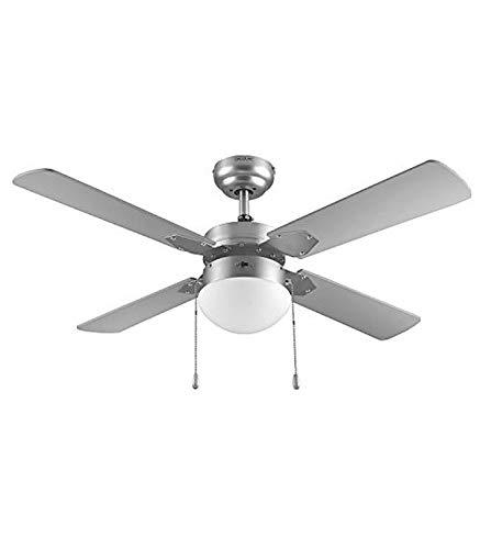 """Cecotec Ventilador de techo ForceSilence Aero 570. 4 aspas, Luz LED, Motor de cobre, 52""""/132cm diámetro, 3 velocidades,Temporizador, Mando a distancia, 60 W"""