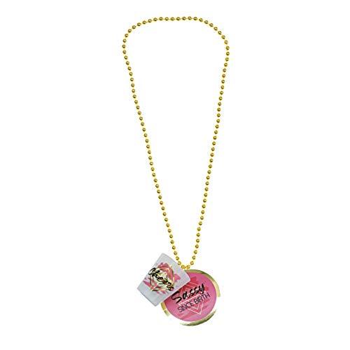 Pavilion Gift Company Sassy Since Birth Shot Glass Necklace, 1.75 Oz, Pink
