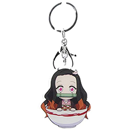 HongG 2019 New Double Devil Killer: Pendant Acrylic Silicone Keychain Keyring Novelty Bag Accessories Anime Fan Best Gift(None H02)