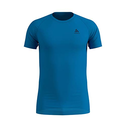 Odlo Herren BL TOP Crew neck s/s ACTIVE F-DRY LIGHT Unterhemd, blue aster, L