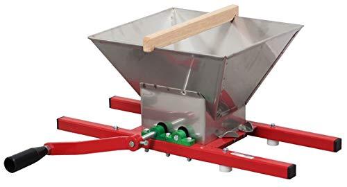 Trituradora de frutas 7L con tolva de acero inoxidable – Trituradora de frutas para manzanas, peras, uva, fresa, frambuesa