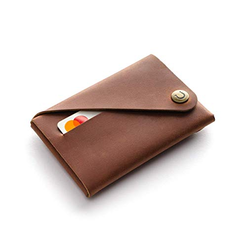 small minimalist wallet leather woman wallet change purse upcycled material brass hardware handmade Gift idea classic leather wallet