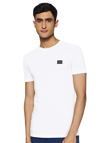Antony Morato T Shirt Sport Slim Girocollo con Placchetta Camiseta de Tirantes, Blanco (Bianco 1000), X-Large para Hombre