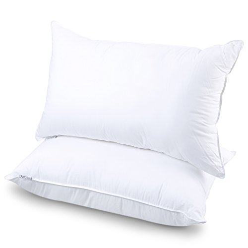 LANGRIA Luxury Hotel Collection Bed Pillows Plush Down Alternative Sleeping Pillow Cotton Cover Soft...