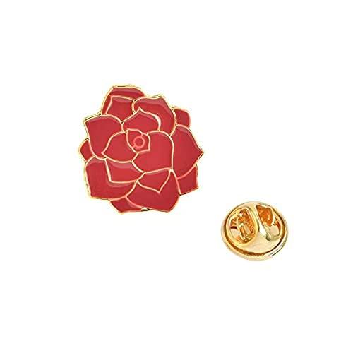 Emaille-Anstecknadeln mit roter Rose, geeignet für Kleidung, Rucksack, kann für Partys und den Alltag verwendet werden (rot und gelb).