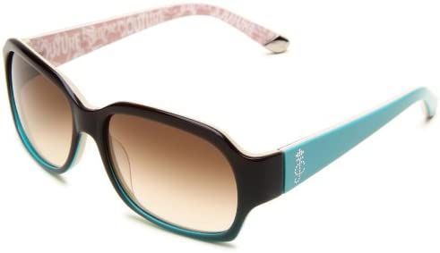 Juicy Couture Women s JU522 S Rectangular Sunglasses Brown Aqua Fade Frame Brown Gradient Lens product image