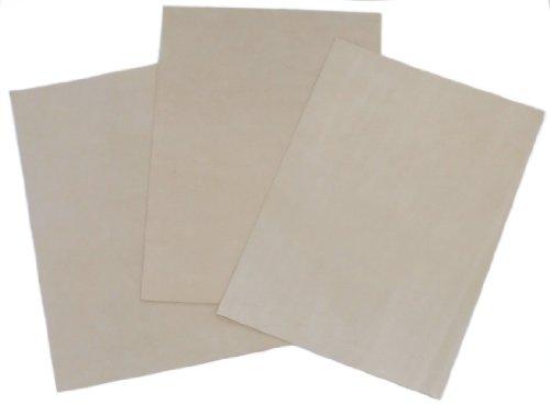 Veloursleder-Bettlaken, 21,6 x 30,5 cm, mit superstarker selbstklebender Rückseite, ideal zum Abziehen und Aufkleben (selbsthaftend, aufklebend) für Tanzschuhe, 3 Stück