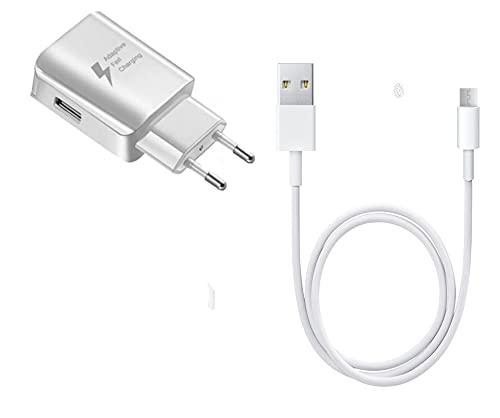 Super Pack - Caricatore + cavo per Vernee V2 Pro Fast Charger ultra potente e veloce di nuova generazione 3A con cavo micro USB ricarica/trasferimento dati