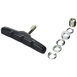 Point 29218201 - Pastilla para Freno V-Brake (2 Pares, Aluminio,70 mm), Color Negro