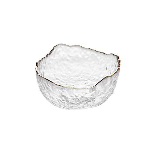 Xushiwanju 1 unid Creativo Creativo Vidrio de Vidrio Fruta Helado Ensalada Ensalada ecológica amigable vajilla Sopa de Sopa de Fideos arroz Cuencos Cocina decoración (Color : Small)