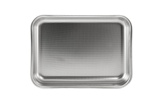 steel pan – 10182 – Plat à Four rectangulaire, 35 x 26 cm, Acier Inoxydable