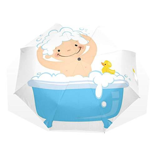 LASINSU Paraguas Resistente a la Intemperie,protección UV,Baby Boy con una Cara Sonriente...