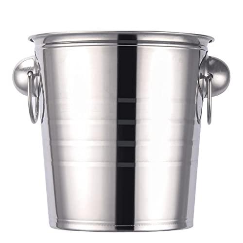 WGGTX Cubos de Hielo para Fiestas Cubo de Hielo de Acero Inoxidable Champagne Cubo de Vino Cooler para Bar Restaurant Home Hotel Bar Bucket Bares, Fiestas, etc. (Color : 7L)
