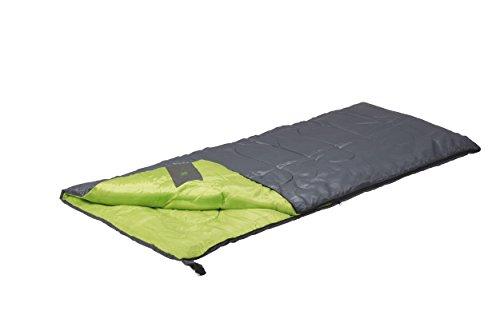 Camp Gear 3605744 Sac de Couchage Mixte Adulte, Grey/Lime, 190 x 75 cm