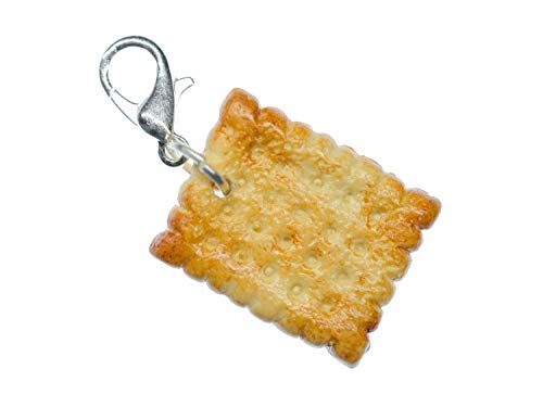 Miniblings Keks Charm Anhänger Bettelarmband Charms Butterkeks Cookie eckig 14mm