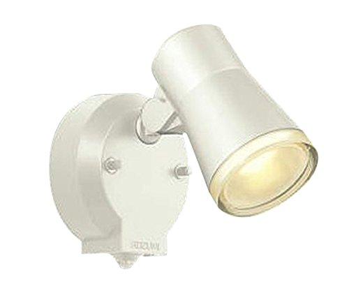 コイズミ照明 人感センサ付スポットライト タイマー付ON-OFFタイプ 拡散 白熱球60W相当 オフホワイト塗装 AUE640557