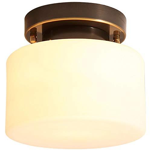Luce Plafoniera Lámpara de techo de pasillo simple Personalidad Lámpara de entrada casera retro creativa Balcón de casa Lámparas de cobre
