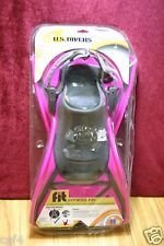 U.S. Divers Swim, Fit Fitness Fin for swimming, bodyboarding, diving and snorkeling (1 pair), Pink & Grey, Size Small, New