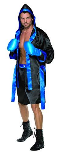 """Smiffy's-36391m Disfraz de Boxeador, túnica, Shorts, cinturón y Guantes, Color Negro, m-tamaño 38""""-40"""" (36391M)"""