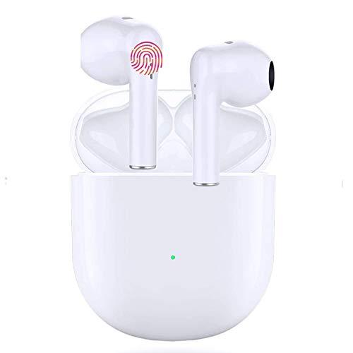 Auriculares Inalámbricos Bluetooth 5.0, Auriculares Bluetooth Deportivos IPX5 Impermeable, In-Ear TWS Cascos Bluetooth Inalámbricos con Microfono Dual y Caja de Carga para iPhone/Samsung/Huawei/Xiaomi