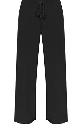 WearAll - Mujeres Tallas Grandes Baggy Abocardada Pantalones Anchos de la Pierna Palazzo