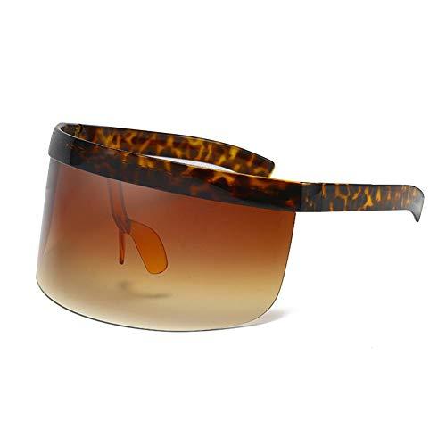 QueenHome Gafas de sol con visera de protección UV, resistentes al viento, con lente de espejo plana para conducción al aire libre (8 tamaños)
