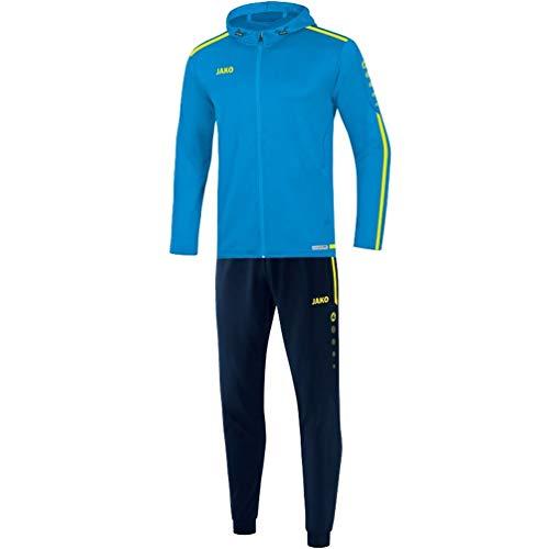 JAKO Kinder Striker 2.0 mit Kapuze Trainingsanzug Polyester, blau/Neongelb, 128