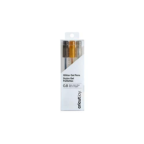 Cricut Joy 3pk 0.8 Point Glitter Gel Pens Black/Gold/Silver