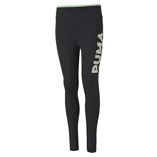 PUMA Mädchen Modern Sports G Leggings, Black/Mist Green, 152