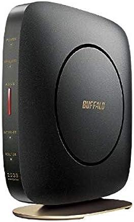 バッファロー 11ac対応 1733+800Mbps 無線LANルータ(クールブラック)(親機単体) WSR-2533DHP2-CB