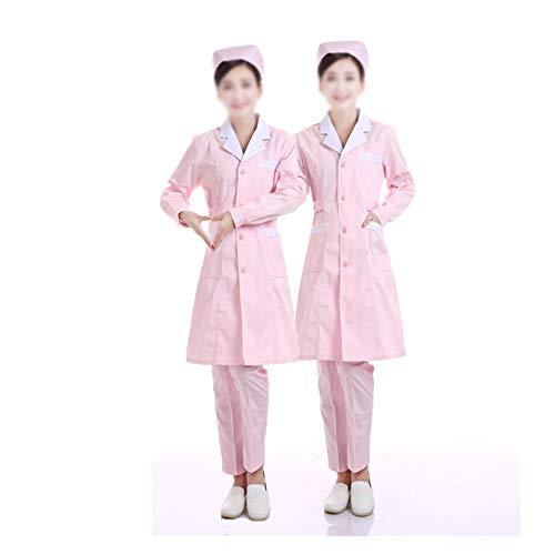 CX ECO Medizinische Uniform für Männer Peelings Medizinischer weißer Kittel Medizinische Krankenpflege Uniform für mehrere Taschen Berufsbekleidung Zahnarzt Tierarztkittel