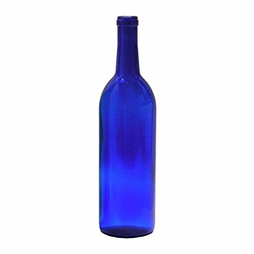 Midwest Homebrewing and Winemaking Supplies 750 ml Cobalt Glass Claret/Bordeaux Bottles (12 per case)