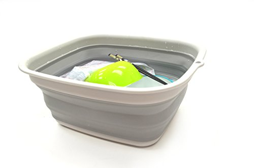 Collapsible Dish Tub: SAMMART 7.7L Collapsible Tub