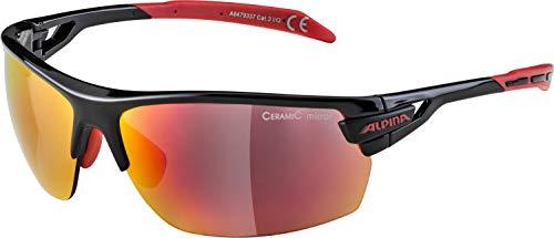 Alpina Sportbrille TRI-SCRAY, Schwarz/Rot, Einheitsgröße