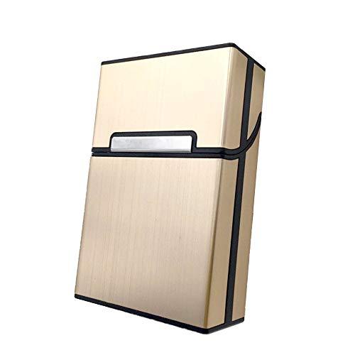 Caja de Cigarrillos de Aluminio Ligero, Portatil Caja Cigarillo con Cierre Magnético, Caja de Cigarrillos Metal para Cigarrillos Tabaco Cigarrillos, Pitilleras para Hombre y Mujer, para 20 Cigarrillos