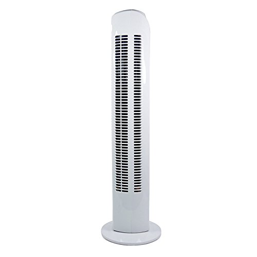 Igenix DF0035T Oscillating Tower Fan with 7.5 Hour Timer and Remote Control, 3 Speed Settings and Quiet Operation, Plastic, 45 W, White