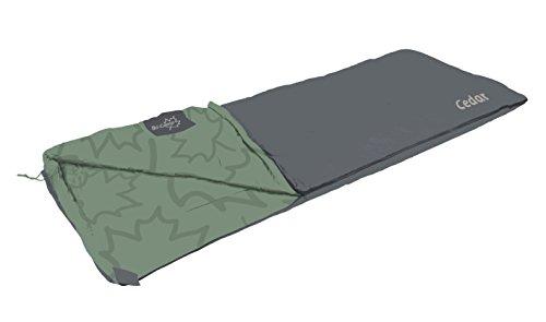 Bo-Camp LeevZ slaapzak Cedar, 220 x 90 cm, groen/antraciet
