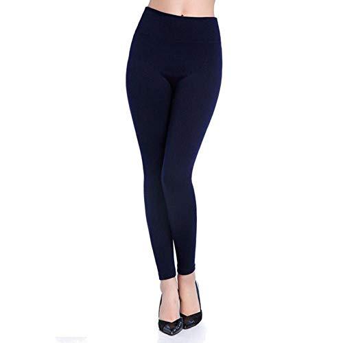 UKKD Leggings Caída Y Invierno Pantalones Calientes De Primavera De Cintura Elevada Ensalada Easy Pantalones Mujeres Mujeres Leggings,Azul Oscuro,XXXL.