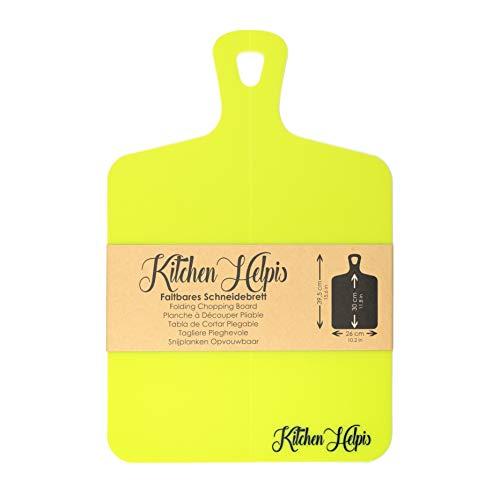 Kitchen Helpis® großes faltbares Schneidebrett, 39,5 x 26 cm, Schneidebrett, Klappbares Schneidebrett, Schneidebrett Kunststoff, Küchenbrett, biegsames Schneidebrett, Schneidebrett flexibel