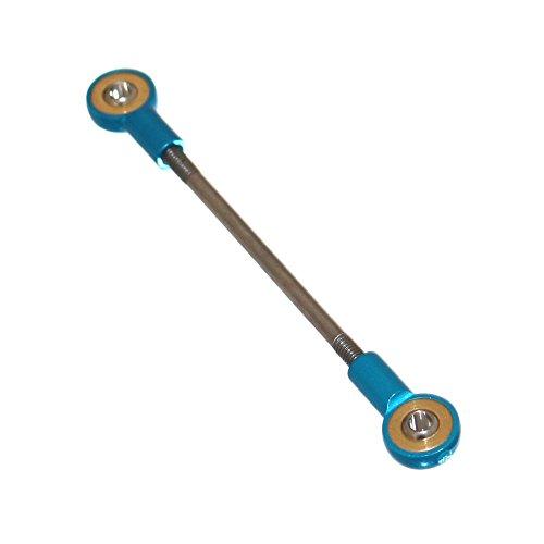 Joy-Button 1 Kugelgelenkstange Spurstange Modellbau Lenkstange Schubstange Zugstange Lenkkopf Alu Kugelkopf Lenkung Schaltung (M3 80mm)