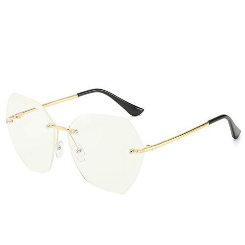 SCAYK Gafas de Sol de Moda Mujeres de la Marca Diseñador de la Lente de Corte de la Lente con Rimless Gradiente Retro Aleación Marcos Gafas de Sol Gafas de Ojos Gafas de Sol de Moda