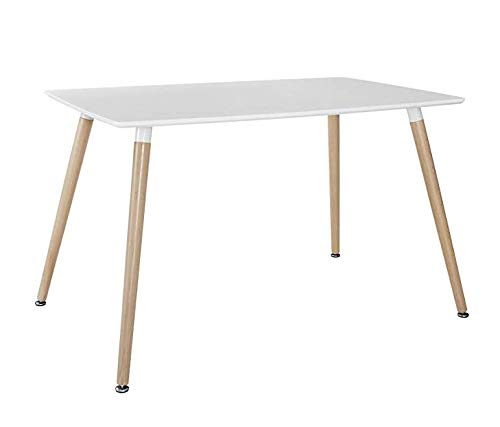 MIFI Skandinavisch Esstisch Weißer Esstisch Design Küchentisch Natürliche Buchenholzbeine