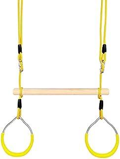 Barn träning sport ringar vuxen fitness hushåll klättring ringar utomhusringar gunga, slumpmässig färg leverans lijiaxin