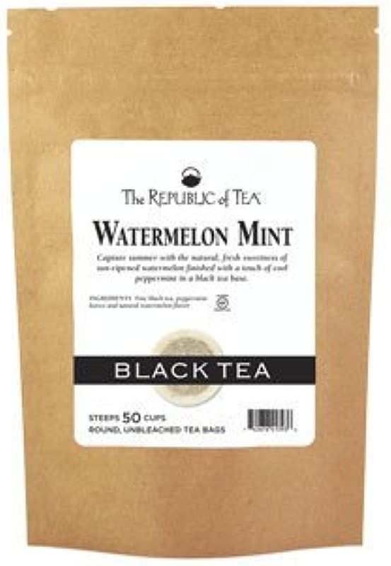 The Republic Of Tea Watermelon Mint Black Tea 50 Tea Bags Refill Bag