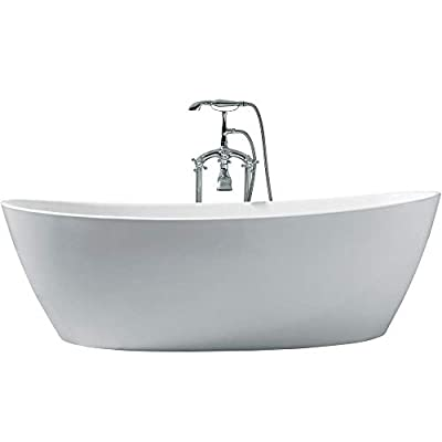 "DKB Zarya UB118-7034 Freestanding Acrylic Bathtub 70"" x 34"" Inches"