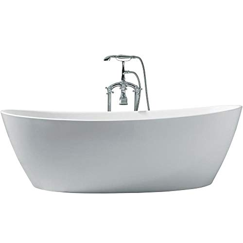 "Zarya UB118-7034 Freestanding Acrylic Bathtub 70"" x 34"" Inches"